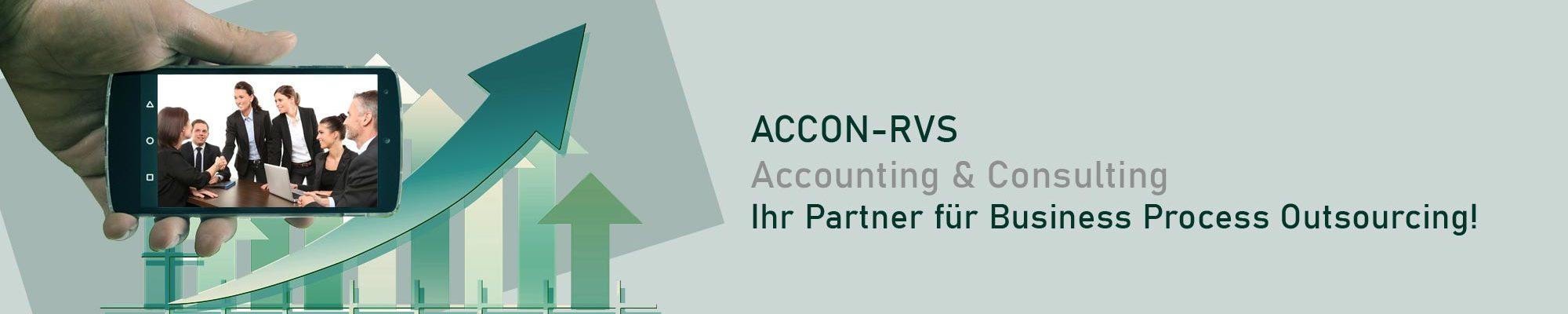 Die ACCON-RVS GmbH ist Dienstleister für Finanzbuchhaltung, Rechnungswesen, Lohnabrechnung, Gehaltsabrechnung ...